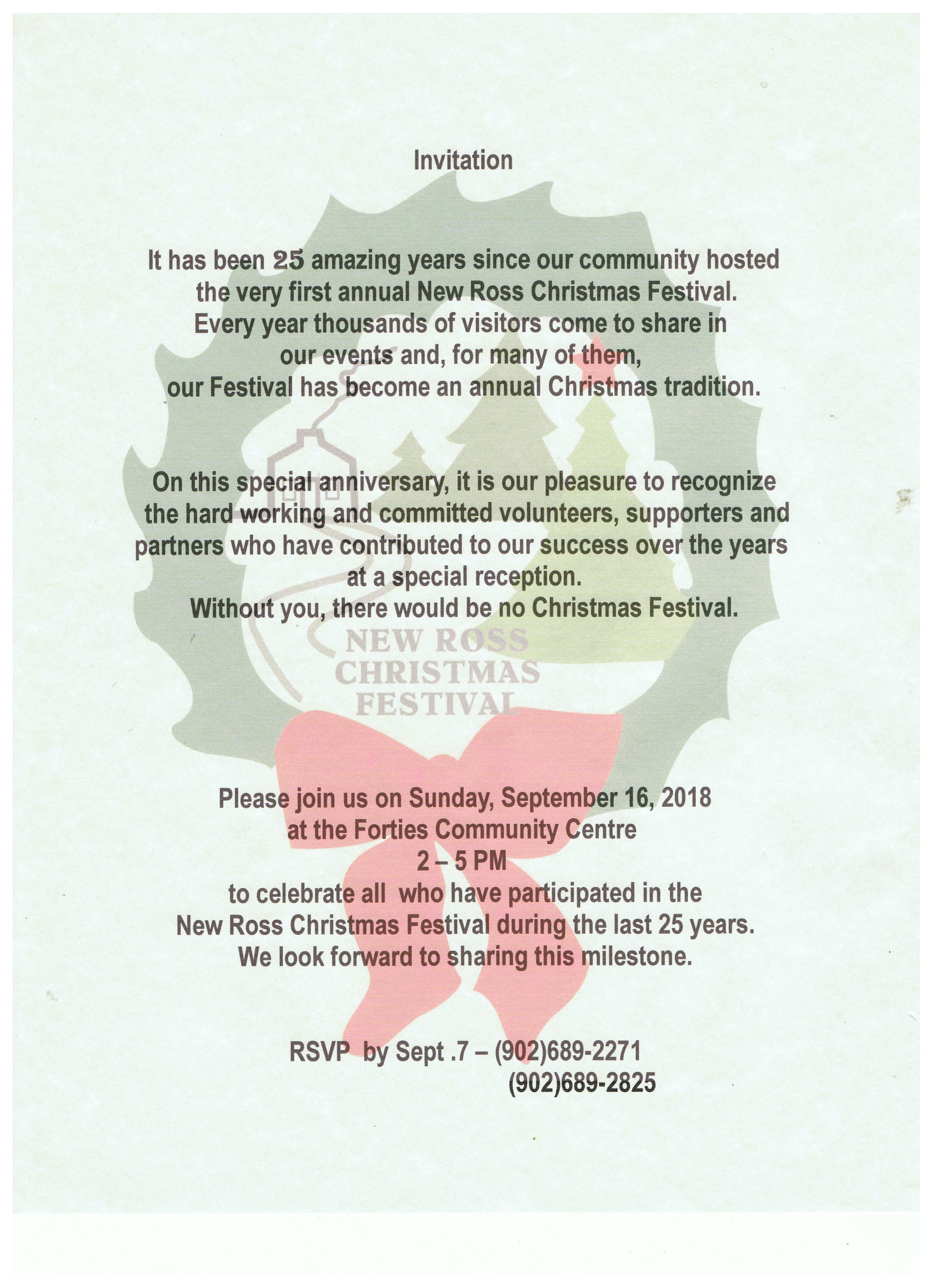 Christmas Festival | The Community of New Ross